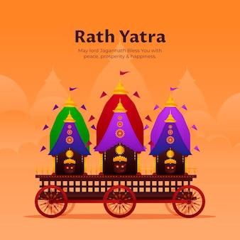 Ilustração de gradiente rath yatra