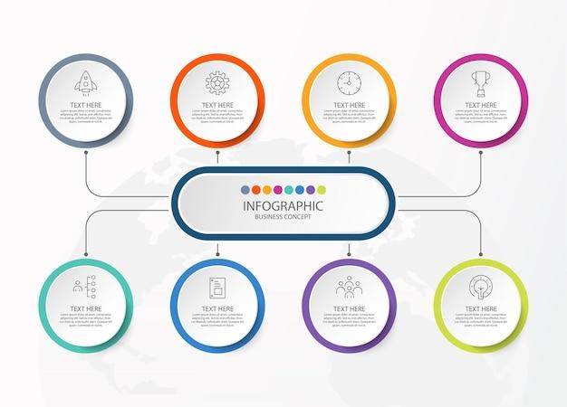 Ilustração de gráfico infográfico