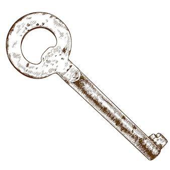 Ilustração de gravura da chave antiga