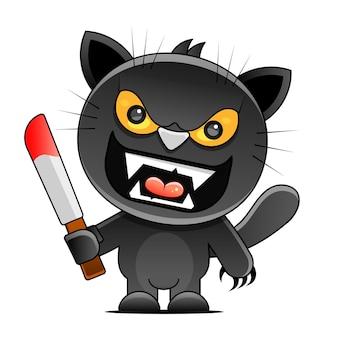 Ilustração de grunge de sexta-feira 13 com numerais e gato preto. símbolo místico da superstição do vetor.
