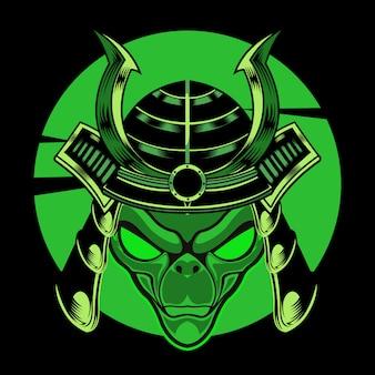 Ilustração de guerreiro alienígena