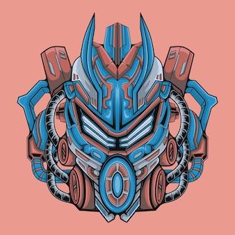 Ilustração de guerreiro robô de design moderno