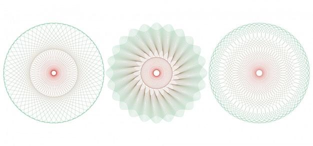 Ilustração de guilhoché circular