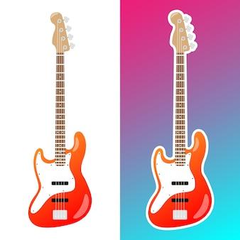 Ilustração de guitarra elétrica