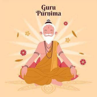 Ilustração de guru purnima