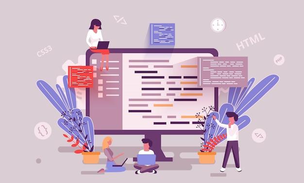 Ilustração de habilidade de programação