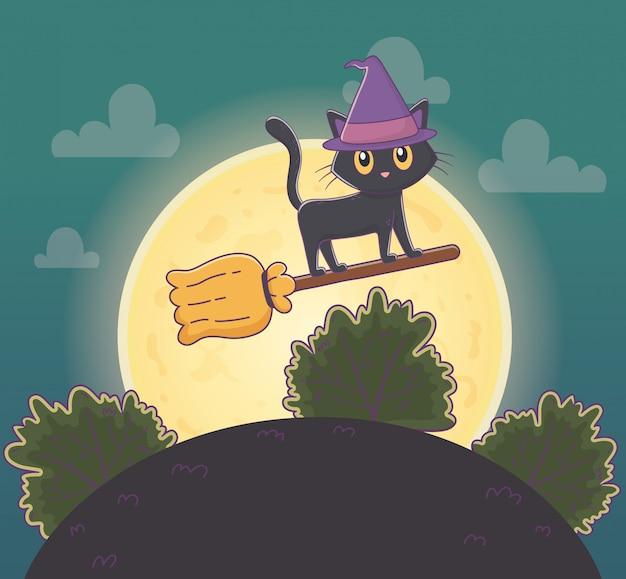 Ilustração de halloween bonito
