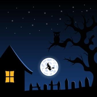 Ilustração de halloween com design plano