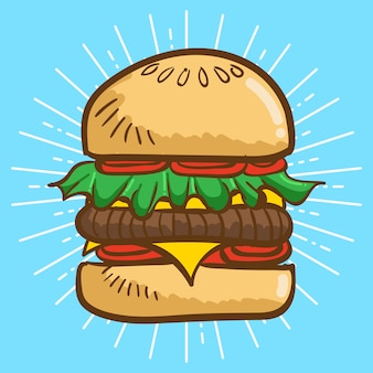 Ilustração de hamburger