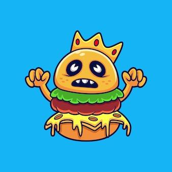 Ilustração de hambúrguer monster king