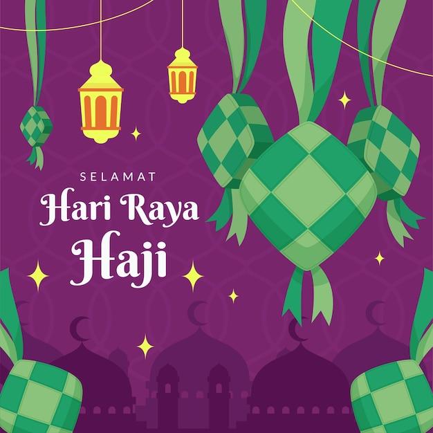 Ilustração de hari raya haji