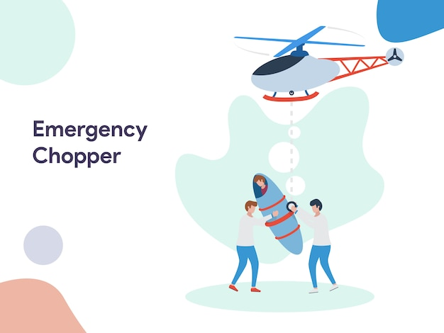 Ilustração de helicóptero de emergência
