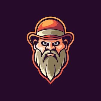 Ilustração de homem de barba desenhada à mão