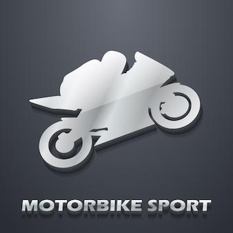 Ilustração de homem de moto e motociclistas. imagem criativa e esportiva
