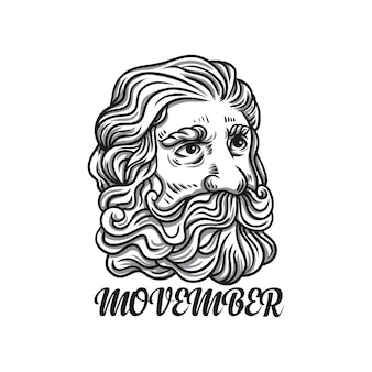 Ilustração de homem movember
