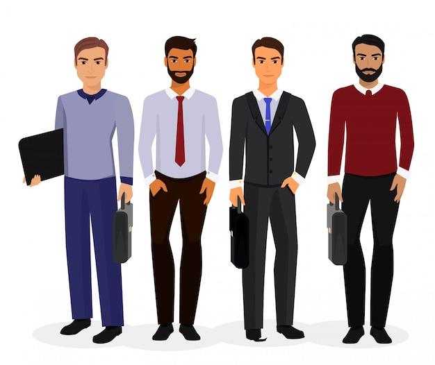 Ilustração de homens de negócios conjunto de criação de personagens de desenhos animados.