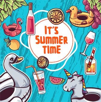 Ilustração de horário de verão