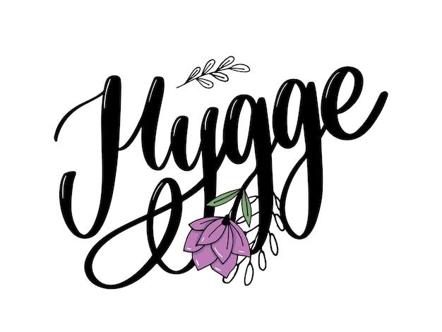 Ilustração de hygge letras