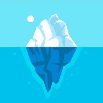Ilustração de iceberg no oceano
