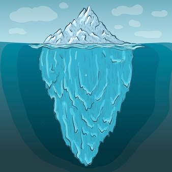 Ilustração de iceberg