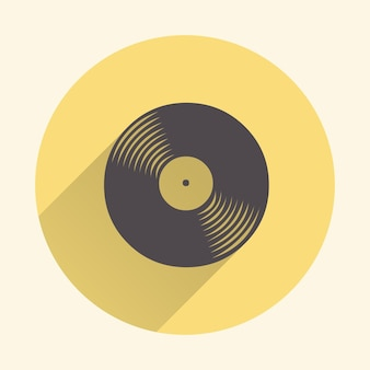Ilustração de ícone de discos de vinil, padrão de música. capa criativa e luxuosa