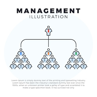 Ilustração de ícone de linha de web