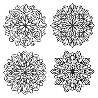 Ilustração de ícone de logotipo de mandala