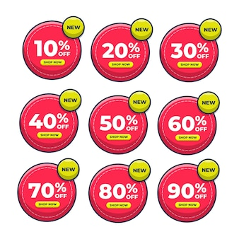Ilustração de ícone de preço com desconto de etiqueta