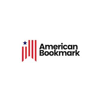 Ilustração de ícone de vetor de logotipo de marcador americano