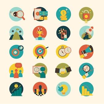 Ilustração, de, ícone negócio, isolado, experiência