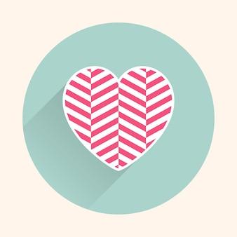 Ilustração de ícones de corações. cartão de dia dos namorados para modelo de férias. estilo criativo e luxuoso