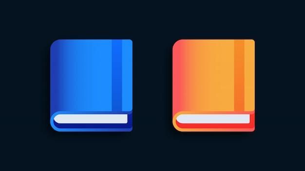 Ilustração de ícones de livro