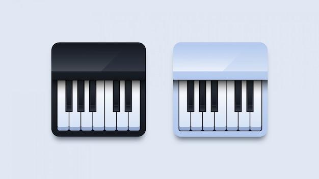 Ilustração de ícones de piano