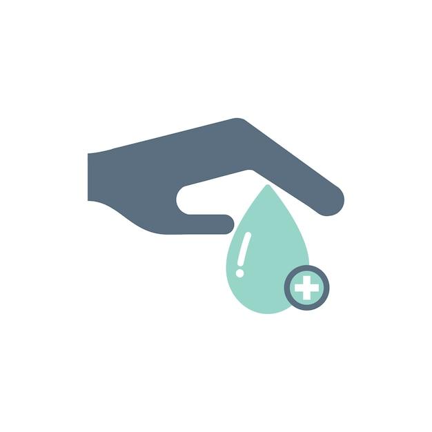 Ilustração de ícones de suporte de doação de sangue