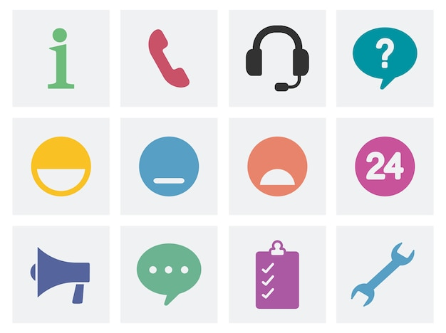 Ilustração de ícones do conceito de comunicação