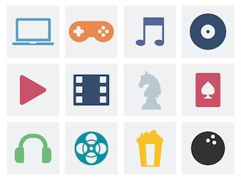 Ilustração de ícones gráficos de conceito de entretenimento