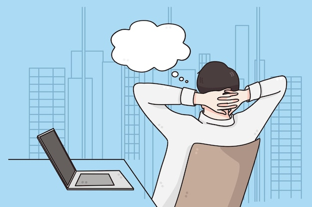 Ilustração de ideias de negócios