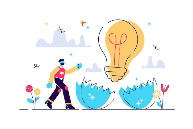 Ilustração de ideias para incubação