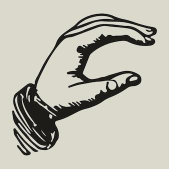 Ilustração de identidade corporativa do logotipo da mão