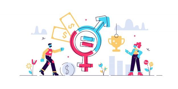Ilustração de igualdade de gênero.