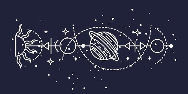 Ilustração de ilustração astrológica mística