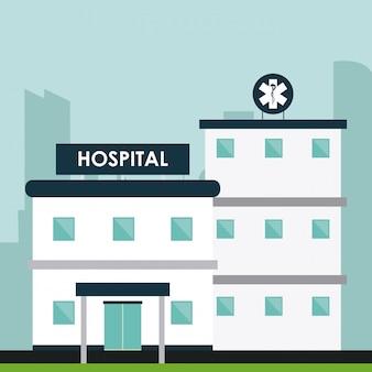 Ilustração de ilustração de centro médica