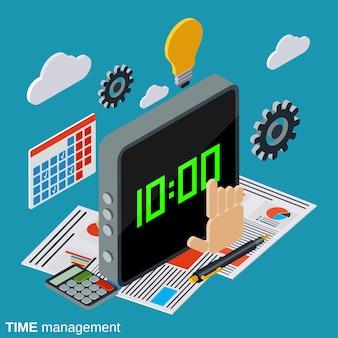 Ilustração de ilustração de gerenciamento de tempo