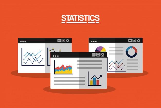Ilustração de imagem de negócios de dados estatísticos