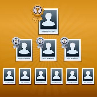 Ilustração de infográficos de classificação social