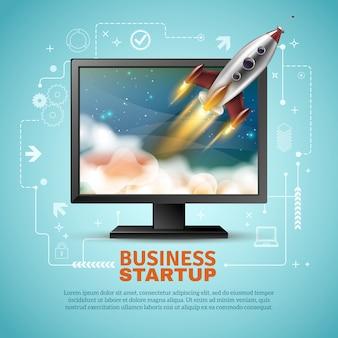 Ilustração de inicialização de negócios
