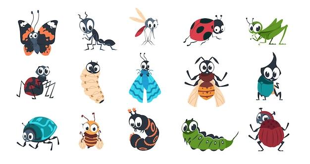Ilustração de insetos fofos