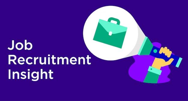 Ilustração de insight de recrutamento de trabalho