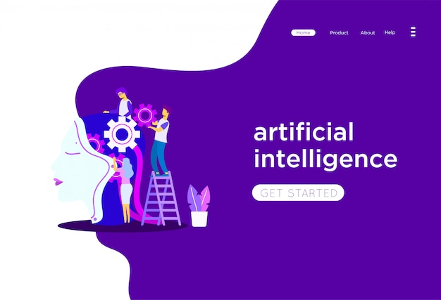 Ilustração de inteligência artificial