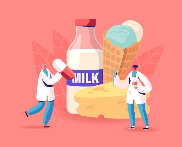 Ilustração de intolerância à lactose